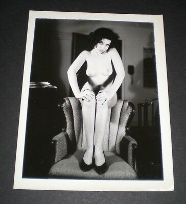 SULTRY STUNNING MODEL - Vintage 4x5 Photo - Original/PinUp/Girl/Nude/Camera/Art