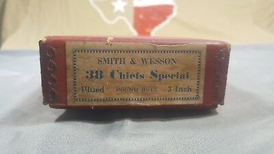 Pre-War Vintage Smith and Wesson 38 Chief's spec Original Red BOX -free shipping