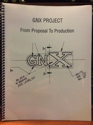"""1987 Buick Grand National GNX Project """" From Proposal To Production"""" Booklet"""