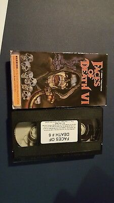 FACES OF DEATH VHS volume 6 part VI Rare OOP