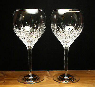 Stuart Crystal Manhattan Goblets Pair New Slight Defects