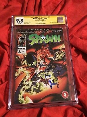 CGC SS 9.8~SPAWN DIRECTOR'S CUT #1~VARIANT B~SIGNED BY TODD McFARLANE~NEW MOVIE~