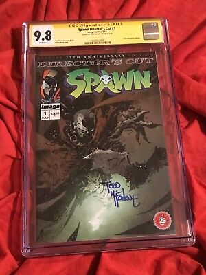 CGC SS 9.8~SPAWN DIRECTOR'S CUT #1~ASHLEY WOOD VARIANT~SIGNED BY TODD McFARLANE