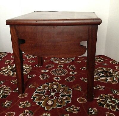 Awesome Rare Antique Primitive Hand Made Solid Walnut Wood Side End Table