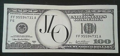 Jennifer Lopez JLO Stage Used Dollar Bill Prop 2018 Billboard Music Awards ◇RARE