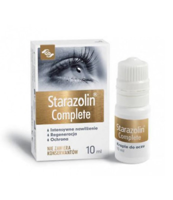 STARAZOLIN COMPLETE Eye Drops Moisturizing, Regenerates & Protect Krople do oczu