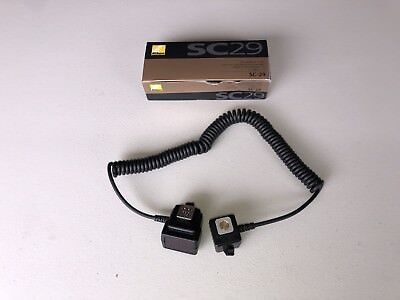 Nikon SC-29 TTL Off-Camera Shoe Cord with AF Assist - Coiled 3-9' w/ mount