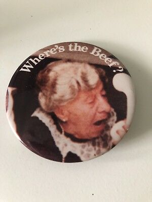 Wendy's Where's the Beef? Lady pin 80s Vintage