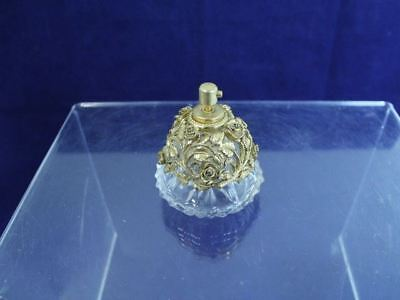 Vintage Decorative Perfume solid Brass Floral Design Decanter
