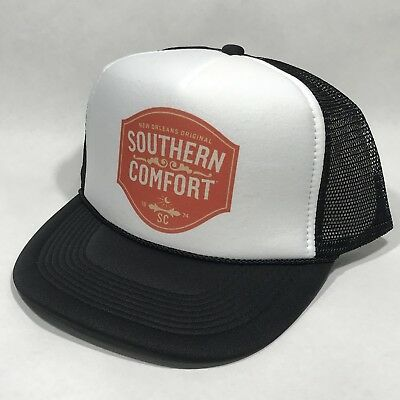 2ff9aafe0ac63 Southern Comfort Whiskey Trucker Hat Mesh Vintage Snapback Party Cap Black