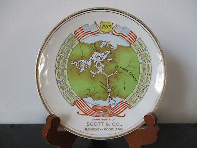 1915 PPIE Souvenir Advertising Plate Scott & Company Bangor Rockland Maine *