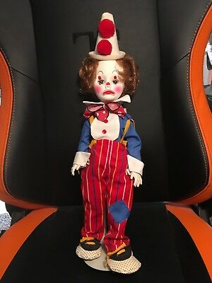 "1984 Effanbee Here Come the Clowns 1750 Jethro Clown 18"" Great Condition"