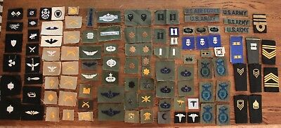 94 Small Embroidered United States Military Patches