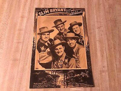 1948 Slim Bryant And His Wildcats Music Book Kdka Pittsburgh Pa Country Western