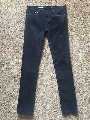 AG Adriano Goldschmied Velvet Legging Super Skinny Pant Jean Cotton Low Rise 28
