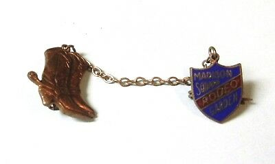 1950's MADISON SQUARE GARDEN RODEO PIN, NEW YORK, 2 PINS with CHAIN
