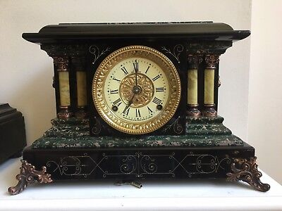 Antique Seth Thomas Adamantine  Mantle Shelf Clock