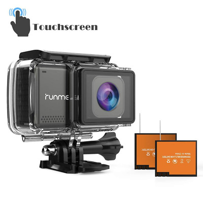 "2.45"" Touchscreen 4K Wi-Fi Action Camera Image Sensor Water Resistant Camcorder"