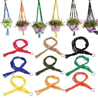 Colorful Nylon/Jute Lifting Rope for Basket Flowerpot Holding Hanging Decor Home