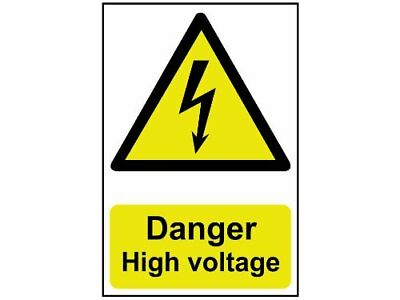Scan 0761 Panneau en PVC Danger High Voltage 200 x 300 mm