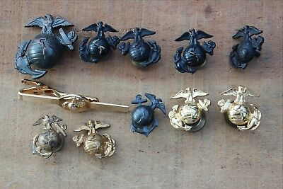 10 United States Military Pins Marines Eagle on Globe and Anchor