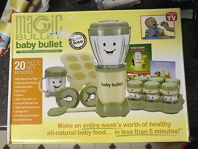 As Seen On TV Baby Bullet Baby Food Maker BPA-Free 20-Piece Set NEW IN BOX