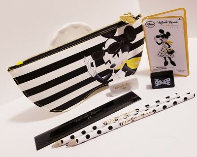 Minnie Mouse Disney Park 06Pcs Stationery Set Pencil Pouch Eraser Ruler Pencils