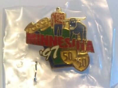 Vintage 1997 Minnesota collectible Lapel Pin QVC 50 In 50 Tour