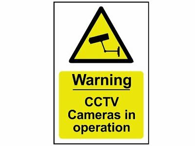 Scan 1311 Panneau en PVC Warning CCTV Cameras In Operation 200 x 300 mm