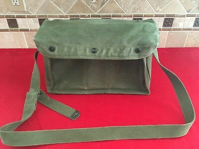 WW2 US Signal Corps BG-186 Carry Bag Case For Radio Remote Control Kit RC-261