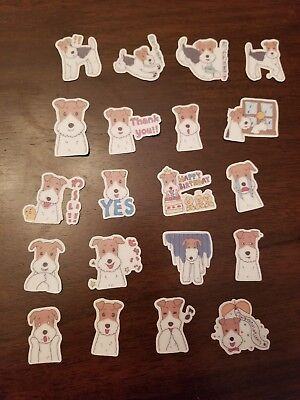 Wire Fox Terrier Jack Russell dog Stickers Stationary Low Price 20 Pcs Design #2