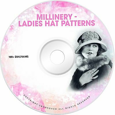 Millinery Design Pattern Book How to Make Ladies Hat Wire Molded Frames Book CD