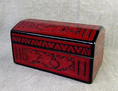 Beautiful Olinala Lacquered Trunk. Baul Pesetero. Mexican Folk Art.