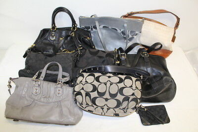 9 Designer Coach Handbag Purse Lot