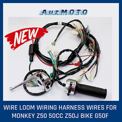 for honda z50 replacement aftermarket wire wiring harness assembly control  switc