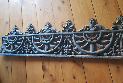 Vintage Antique Cast Iron Lace Work Panel Sections Decorations