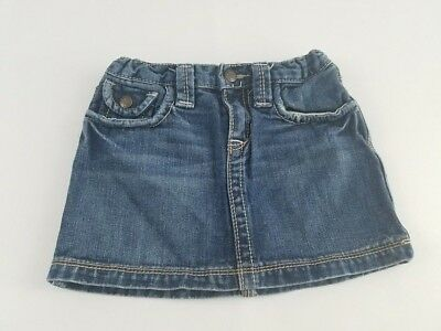 Gap Kids 1969 Girls Denim Mini Skirt Size 6 Regular adjustable waist