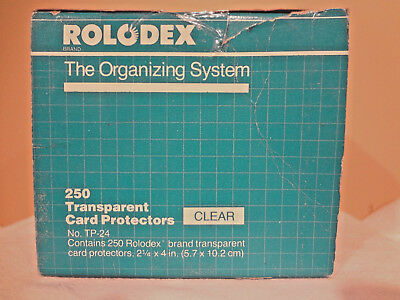 "250 Genuine ROLODEX TP-24 Clear Transparent Card Protectors   2¼"" x 4"" 67653AS"