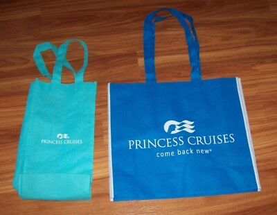 NEW Princess Cruise Lines TOTE BAG & WINE/ LIQUOR 2 BOTTLE BAG, COME BACK NEW!