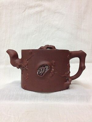 Chinese Yixing Clay Pottery Teapot Decorated 荣卿 A2