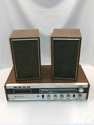 Vintage Automatic Radio AM-FM 8-Track Stereo Receiver W/ Speakers