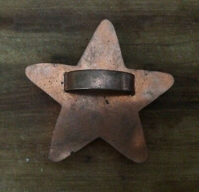 Vintage Michael Bonne Copper Star Cookie Cutter