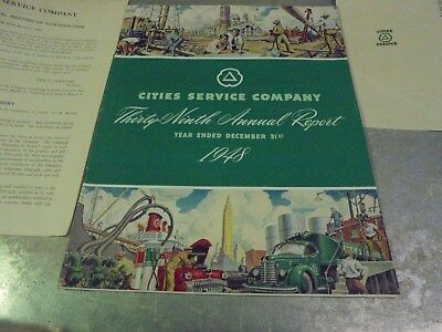 Vintage 1948 Cities Service Annual Report