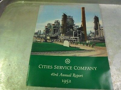 Vintage 1952 Cities Service Annual Report