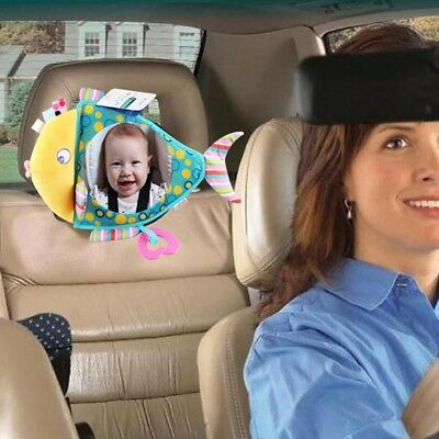 Infant Car Mirror Back Mirror for Baby Shatterproof Rear Facing Fish Shaped US
