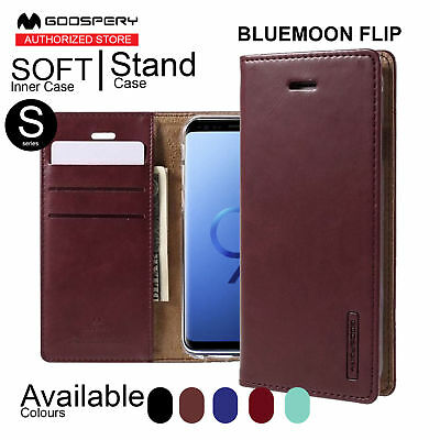 Wallet Case for Galaxy S9 8 Plus 6 7 Edge Leather MERCURY BLUEMOON FLIP Cover