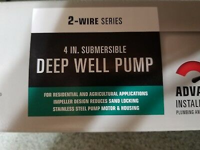 Countyline Cla200  2-Wire 1/2 Hp 10 Gpm 115V Submersible Deep Well Pump