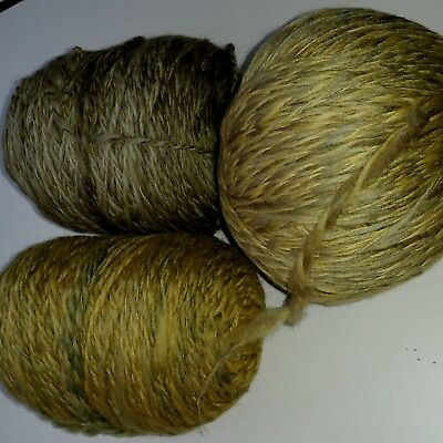 362gm handspun yarn from 19 micron Merino wool tops. 8 ply in moss green