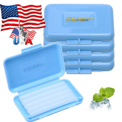 200 Kits AZ Orthodontic Wax Blue-Mint scent For Braces gum irritation 5pc/kit US