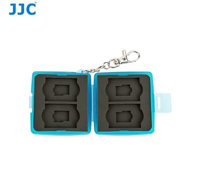 JJC MC-11B BLUE Memory Card Holder case fit for 4x SD, 4x MSD with key ring _AU
